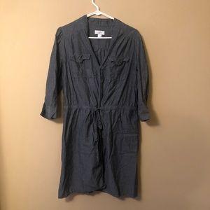 LOFT Denim Dress with Tie Waist Detail